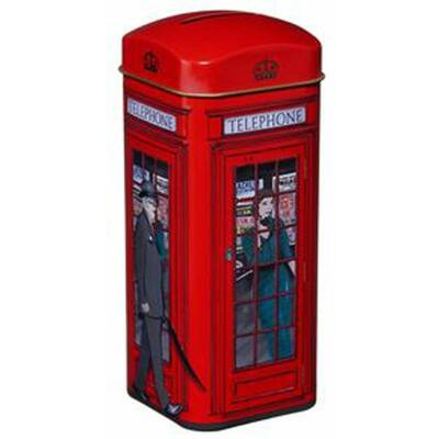 New English Telephone Box Tin (Telefonfülkés doboz 14 db teafilterrel)