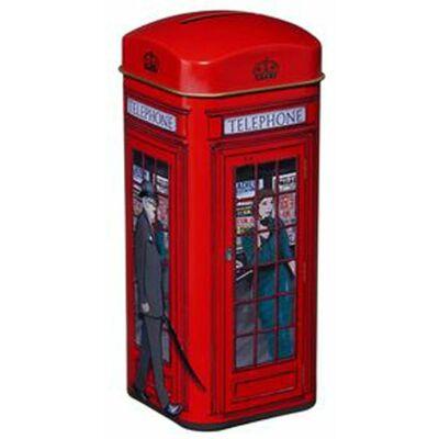 New English Telephone Box Tin (Telefonfülkés doboz 14 db teafilterrel)