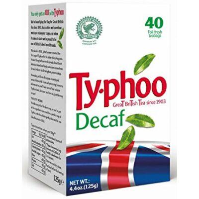 Typhoo Decaffeinated Teabags (koffeinmentes fekete tea) 40 filter