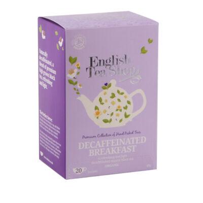 English Tea Shop - Decaffeinated Breakfast (koffeinmentes reggeli tea) 20 db borítékolt filter