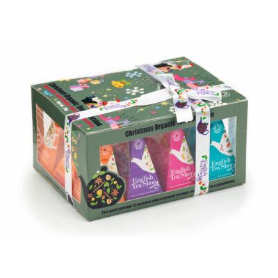 English Tea Shop Ünnepi Szánkós Bio tea válogatás 12 selyemfilter