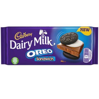 Cadbury Dairy Milk Oreo Sandwich Bar 96g