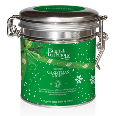English Tea Shop Organic Christmas Night (zöld fémdobozos tea) 15 db filter