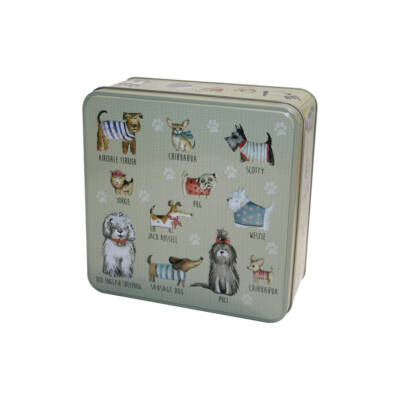 Grandma Wild's Embossed Dogs in Jumpers Tin  (Pulcsis kutyák fémdoboz) 160g