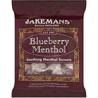 Jakemans Blueberry Menthol Lozenges (kékáfonya-mentol cukorka) 100g