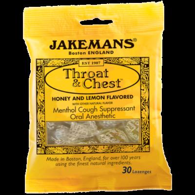 Jakemans Honey & Lemon Lozenges (méz-citrom cukorka) 100g