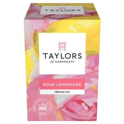 Taylors of Harrogate Rose Lemonade Tea (20 db koffeinmentes borítékolt filter)