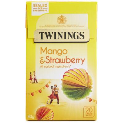 Twinings Mango & Strawberry Tea (Eper és Mangó Tea) 20 db filter