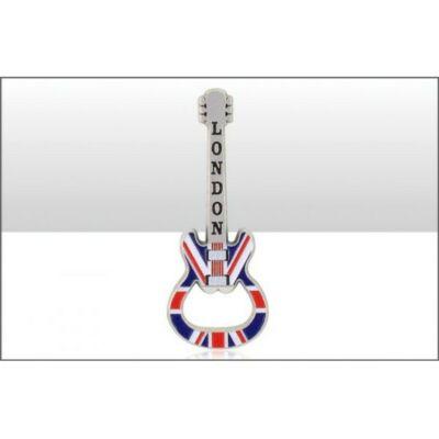 London Union Jack gitár alakú sörnyitó és hűtőmágnes