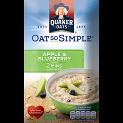 Quaker Oat So Simple Apple & Blueberry 360g (10 instant tasak)