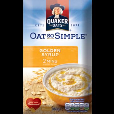 Quaker Oat So Simple Golden Syrup (10 instant tasak)