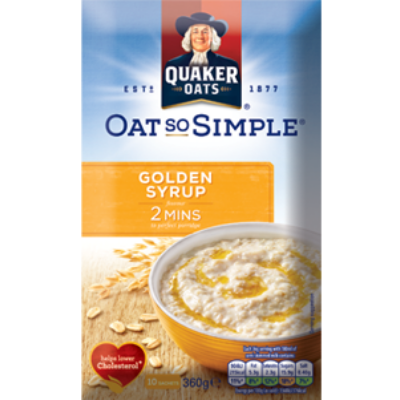 Quaker Oat So Simple Golden Syrup (10 instant tasak)