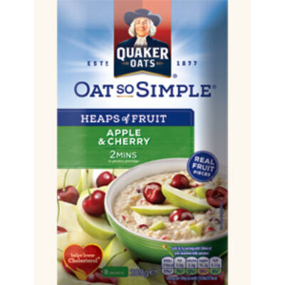 Quaker Oats So Simple Heaps of Fruit Apple & Cherry  8 instant tasak