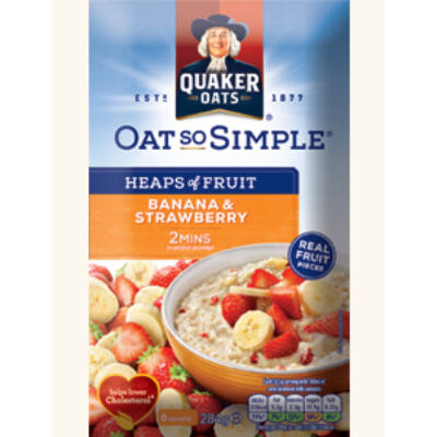Quaker Oats So Simple Heaps of Fruit Banana & Strawberry 8 instant tasak