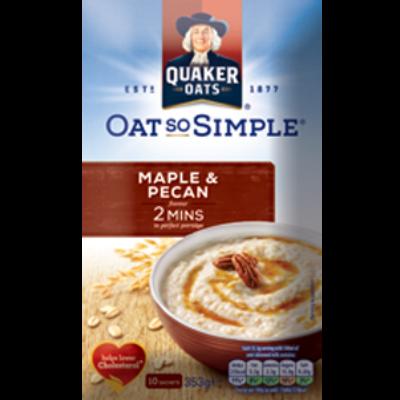 Quaker Oats So Simple Maple & Pecan (10 instant tasak)