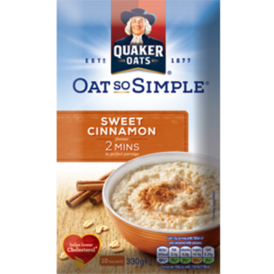 Quaker Oats So Simple Sweet Cinnamon Fahéj ízû instant zabkása 9 tasak