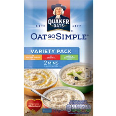 Quaker Oat So Simple Válogatás (9 instant tasak) 297g