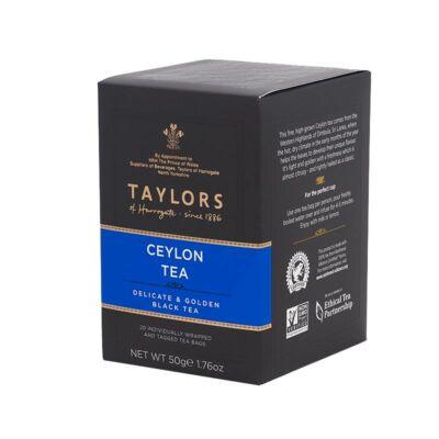 Taylor's of Harrogate Ceylon Tea 20 db borítékolt filter