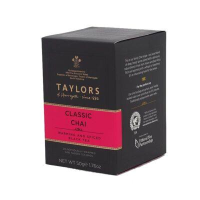 Taylor's of Harrogate Chai Tea 20 db borítékolt filter