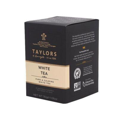 Taylor's of Harrogate White (Fehér) Tea 20 db borítékolt filter