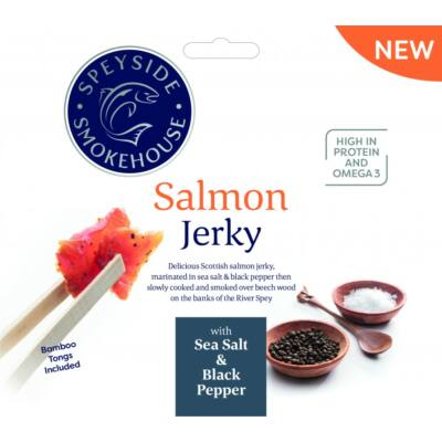 Speyside Smokehouse Salmon Jerky with Sea Salt & Black Pepper 30g