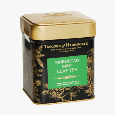 Taylor's of Harrogate Moroccan Mint Leaf Caddy (szálas fémdobozos tea) 125g