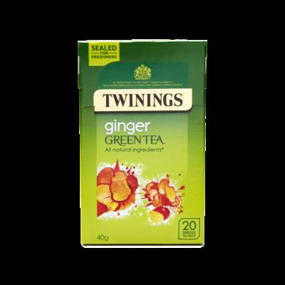 Twinings Green Tea & Ginger (Zöld Tea Gyömbérrel) - 20 db filter