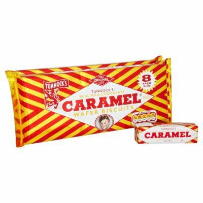 Tunnocks Choc Caramel Wafer 8-as kiszerelés