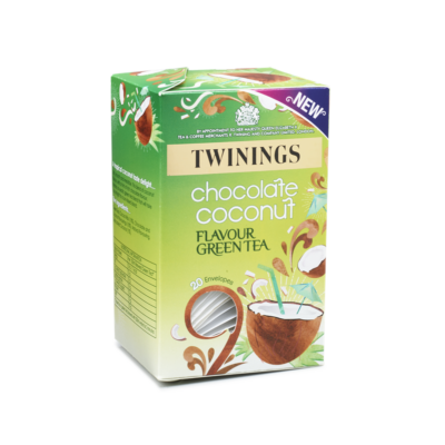 Twinings Chocolate Coconut Indulgence Green Tea 20 borítékolt filter