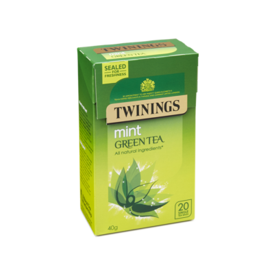 Twinings Green Tea & Mint  (Zöld tea mentával) 20 db filter