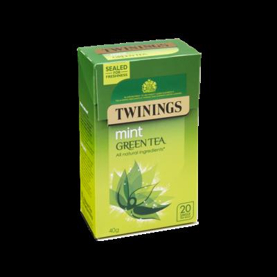 Twinings Green Tea & Mint  (Zöld tea mentával) 20 db filter