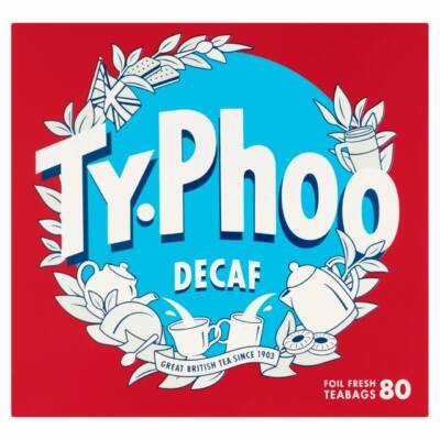Typhoo Decaf Tea Bags - Koffeinmentes Fekete Tea 80 db filter