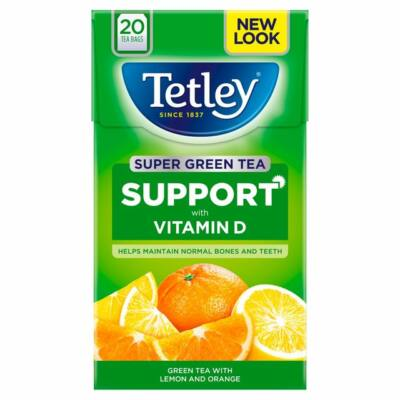 Tetley SuperGreen Sunshine Lemon & Orange Tea 20 db filter