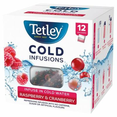 Tetley Cold Infusions Raspberry and Cranberry 12db