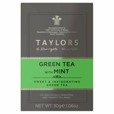 Taylors of Harrogate Green Tea with Mint (Zöld tea mentával) 20 db borítékolt filter