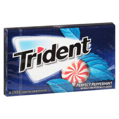 Trident Perfect Peppermint Gum [USA] 14db
