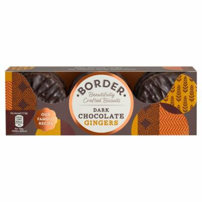 Border Dark Chocolate Gingers 150g