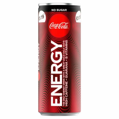 Coca Cola Energy No Sugar (UK) PM.1.19 250ml