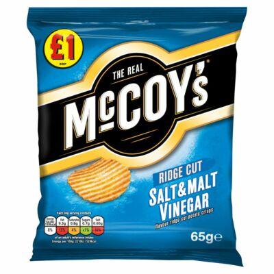 McCoys Salt & Malt Vinegar Crisps 65g