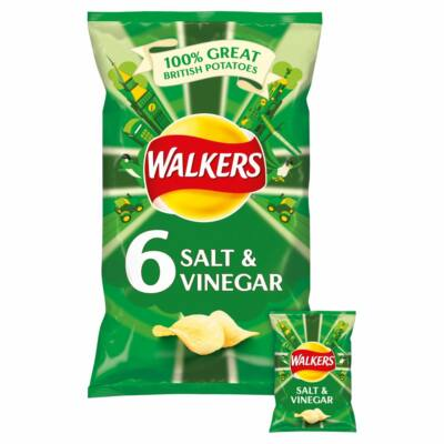 Walkers Salt & Vinegar Chips - Sós/Ecetes 6x25g