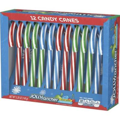 Jolly Rancher Holiday Candy Canes Assortment 12 Candy Canes (149g) [USA]