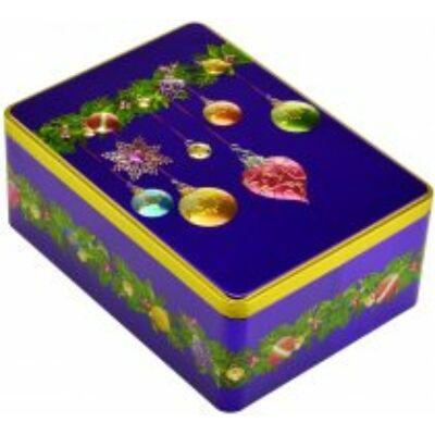 Farmhouse Biscuits - Purple Bauble Rectangle Tin (Fémdobozos fűszeres gyömbéres keksz) 400g