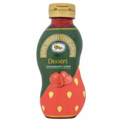 Lyle's Squeezy Strawberry Syrup 325g