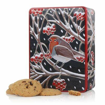 Farmhouse Biscuits Robin (Vörösbegy) Fémdobozos vörösáfonyás keksz  400g
