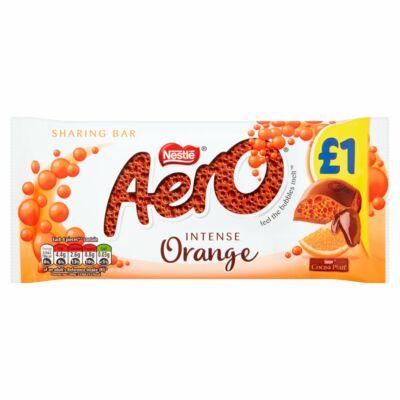 Nestlé Aero Intense Orange Milk Chocolate Block 90g