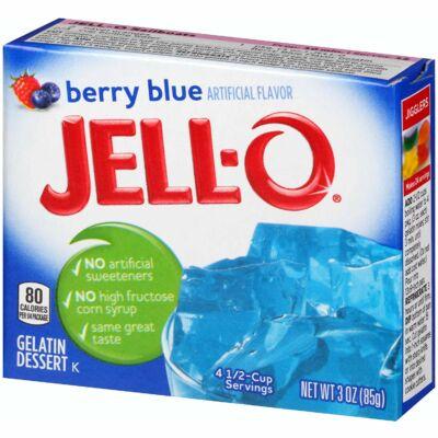 Jell-O Berry Blue Gelatin Mix 85g [USA]