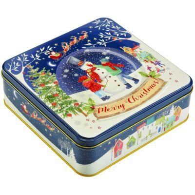 Farmhouse Biscuits - Christmas Snow Globe Tin (Hógömb) Fémdobozos kekszválogatás 400g