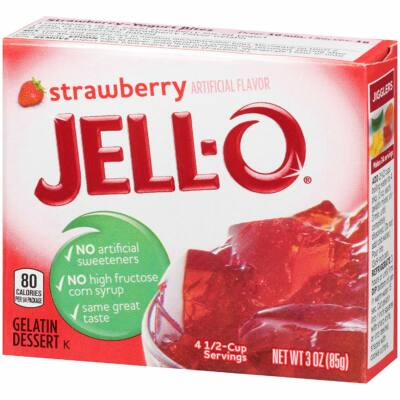 Jell-O Strawberry Gelatin Dessert [USA] 85g