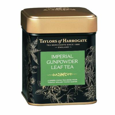 Taylor's of Harrogate Imperial Gunpowder Leaf Caddy (szálas fémdobozos zöld tea) 125g