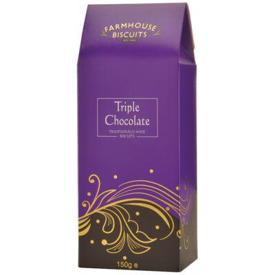Farmhouse Biscuits Regency Triple Chocolate Carton (Tripla csokoládés keksz)– 150g